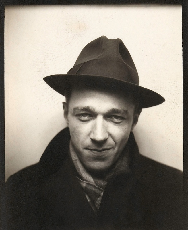 Walker Evans (1903-1975) 'Self-Portrait in Automated Photobooth' 1930 (detail)