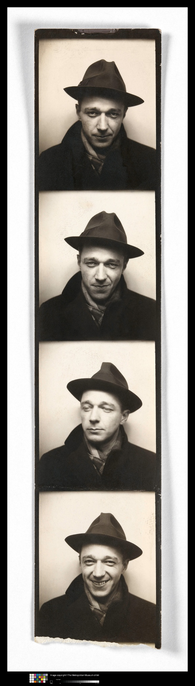 Walker Evans (1903-1975) 'Self-Portrait in Automated Photobooth' 1930