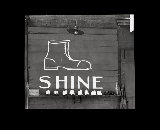 Walker Evans (1903-1975) 'Shoeshine Stand Detail in Southern Town' 1936