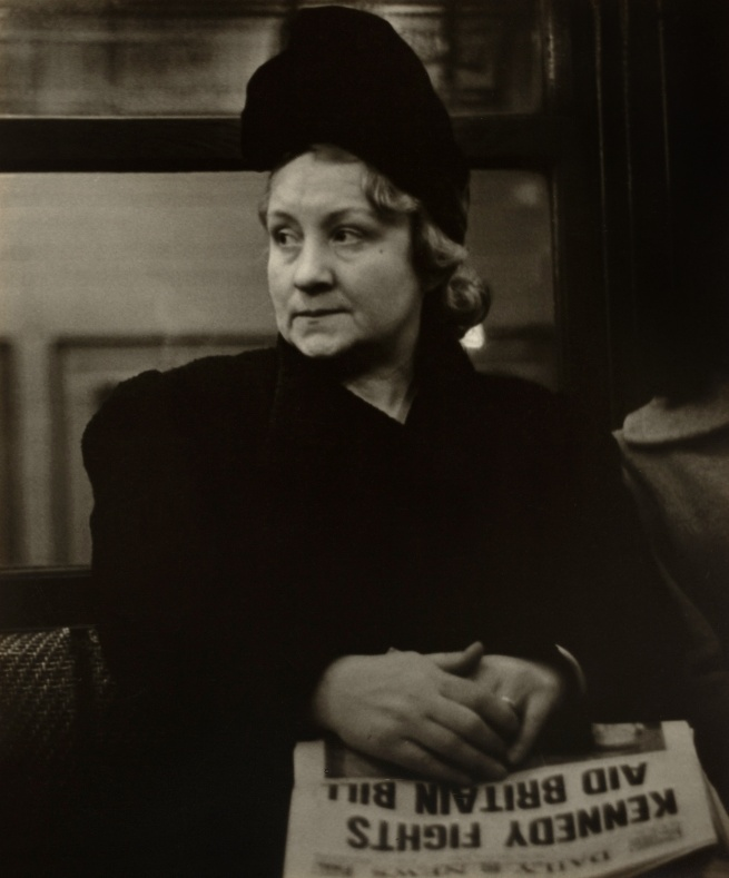 Walker Evans (1903-1975) 'Subway Portrait' January 1941
