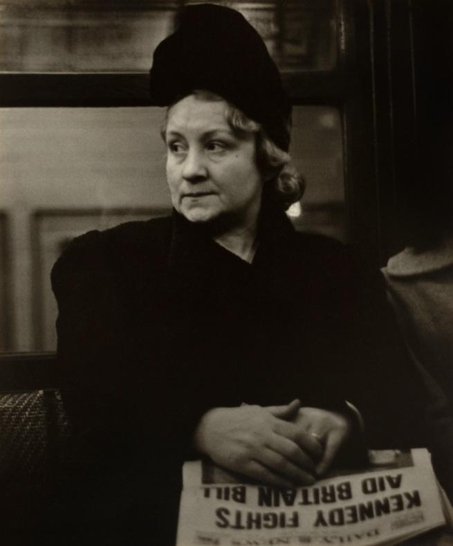 Walker Evans (1903-1975) 'Subway Portrait' January 1941