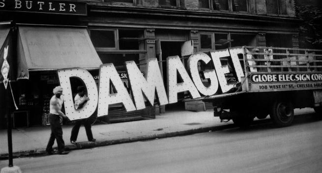 Walker Evans (1903-1975) 'Truck and Sign' 1928-1930