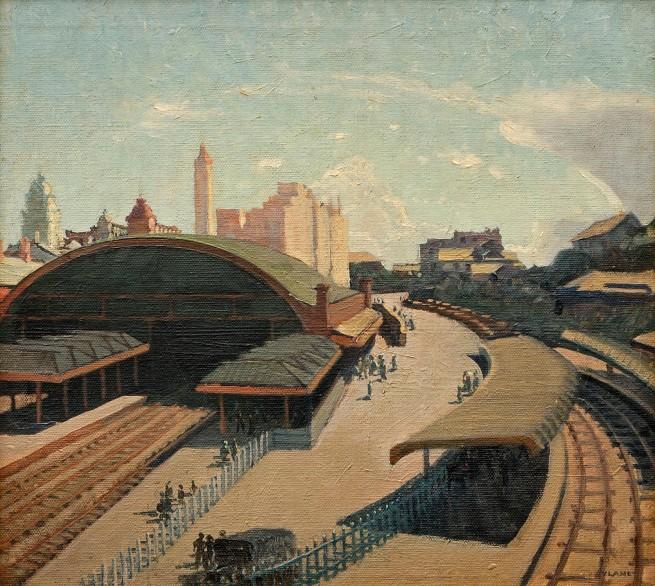 Vida Lahey (Australia 1882-1968) 'Sultry noon (Central Station Brisbane)' 1931