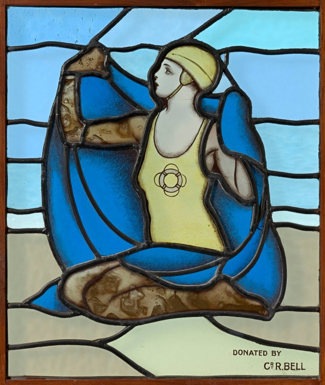 Unknown, Melbourne. 'Female lifesaver, window' c. 1935
