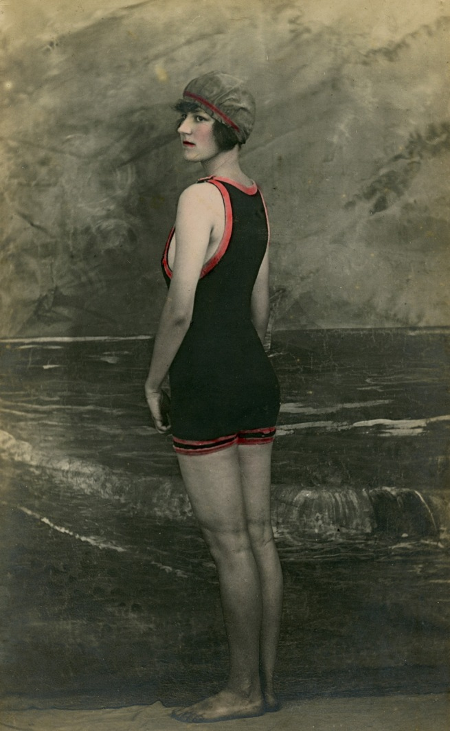 George Hendry. 'Norma Horniblow in a bathing costume' c. 1920