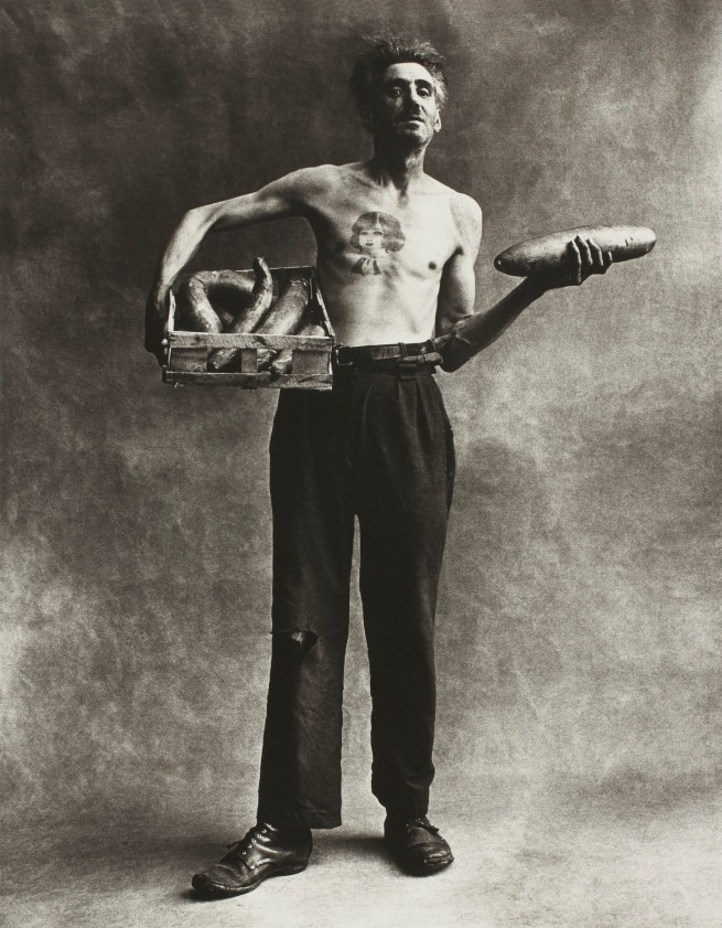 Irving Penn (American, Plainfield, New Jersey 1917-2009 New York) 'Marchand de Concombres [Cucumber Seller]' 1950, printed 1976