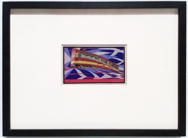 Installation view of Ivor Francis' 'Speed!' from the exhibition 'Brave New World: Australia 1930s' at NGVA