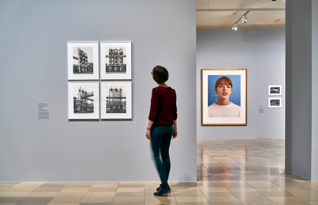 "Exhibition view ""Photographs Become Pictures. The Becher Class"""