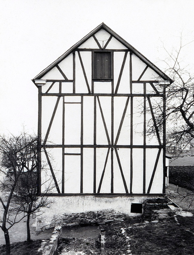 Bernd Becher (1931-2007) and Hilla Becher (1934-2015) 'Half-Timber Houses' (detail) 1959-61/1974