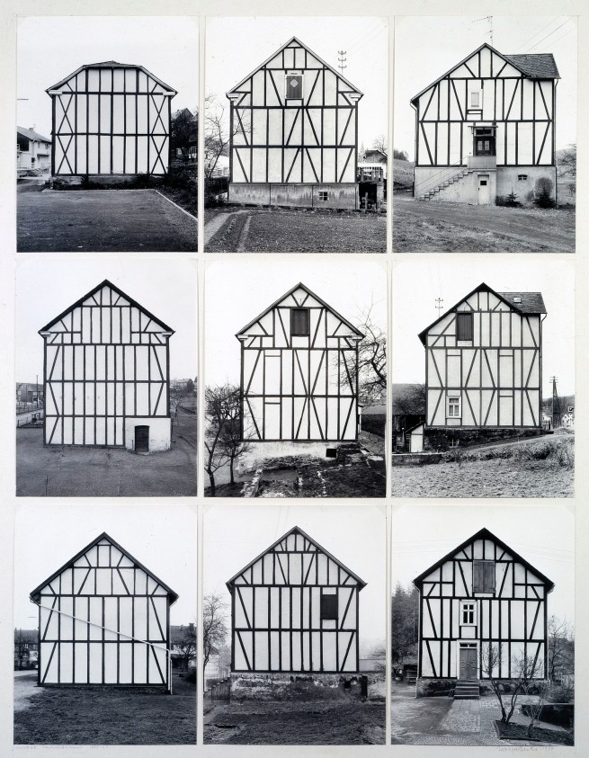 Bernd Becher (1931-2007) and Hilla Becher (1934-2015) 'Half-Timber Houses' 1959-61/1974