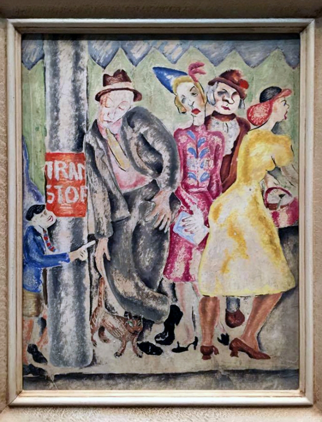 Yvonne Atkinson (Australia 1918-99) 'The tram stop' 1937