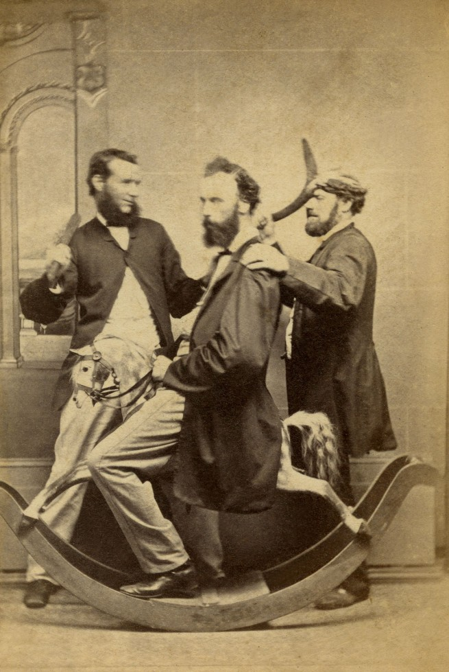Andrew Weddell. 'Three men acting for the camera' c. 1870