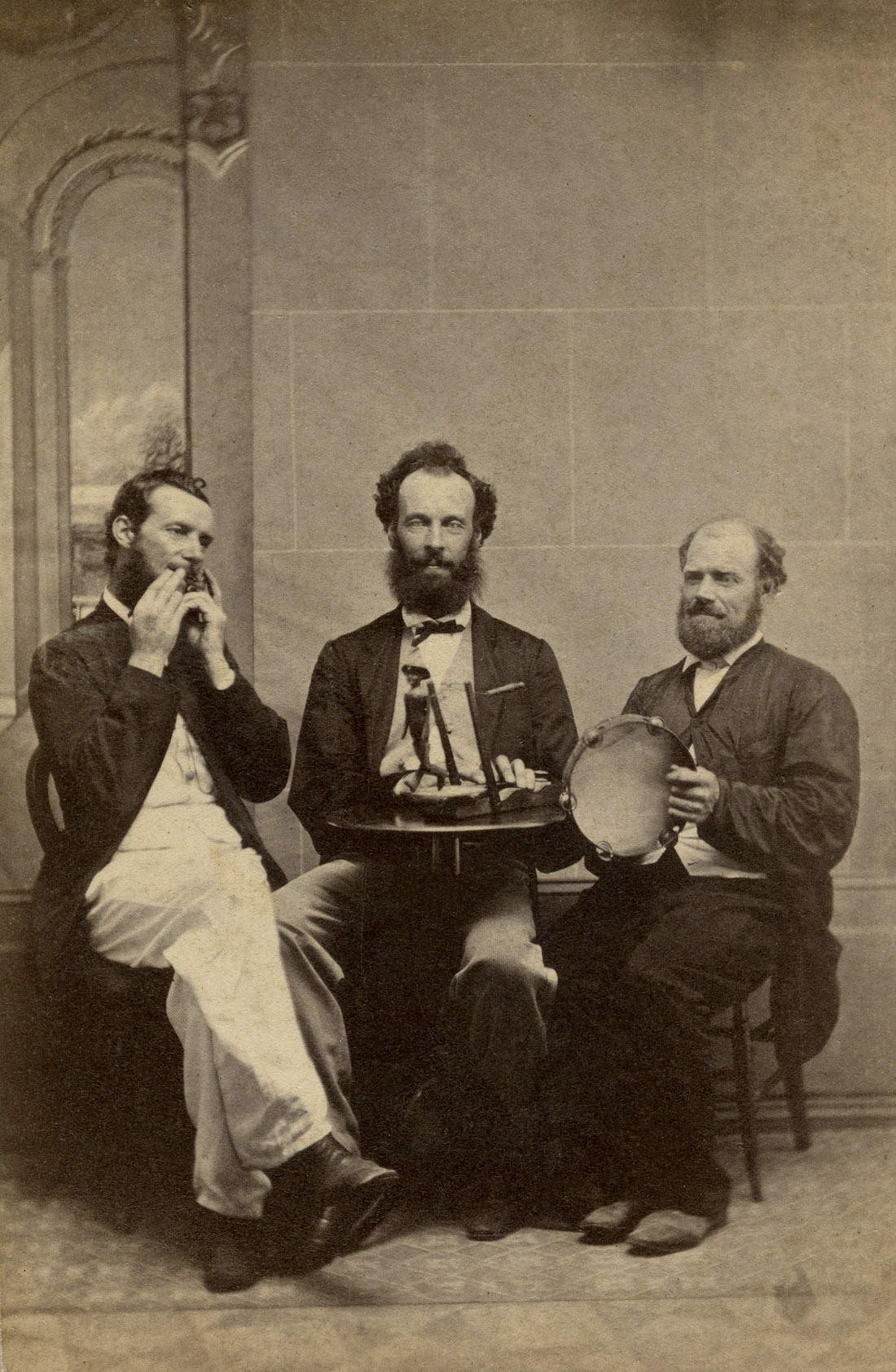 Andrew Weddell Three Men Acting For The Camera C 1870