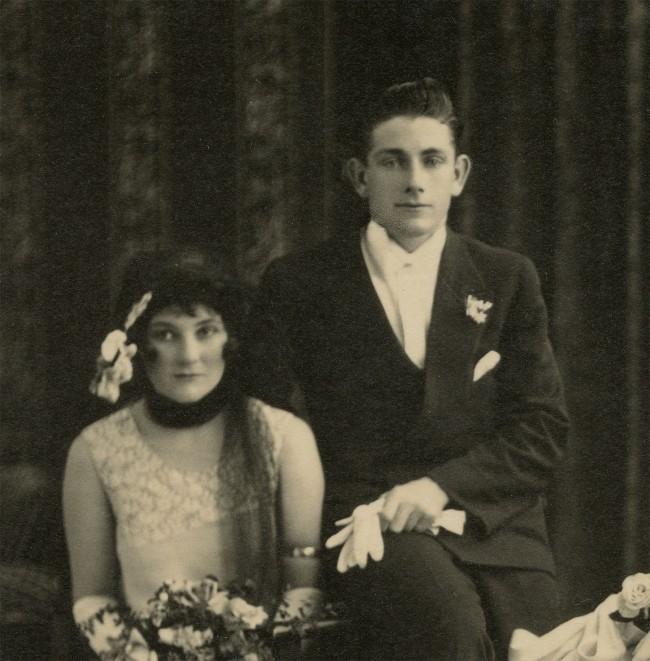 Trissie Deazeley Studio. 'Wedding party' c. 1925 (detail)