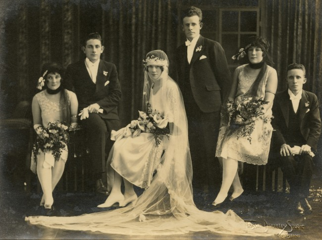 Trissie Deazeley Studio. 'Wedding party' c. 1925