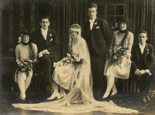 Trissie Deazeley Studio. 'Wedding party' c. 1925