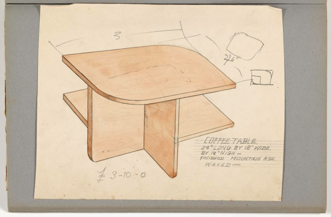Sam Atyeo. 'Album of designs: tables' c. 1933 - c. 1936