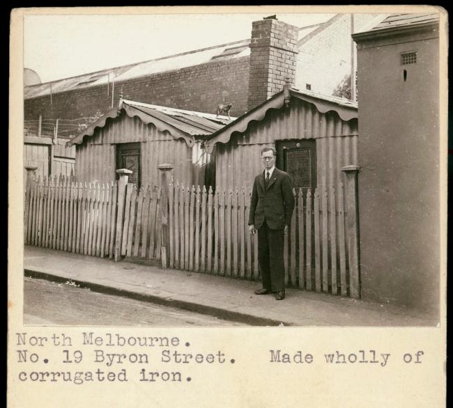 F. Oswald Barnett. 'North Melbourne. No. 19 Byron Street'