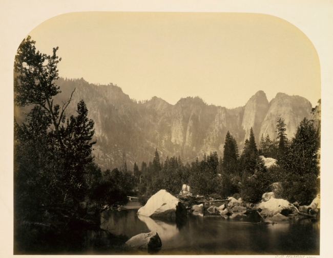 Carleton E. Watkins. 'Down the Valley, Yosemite' 1861