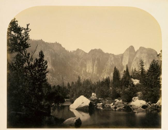 Carleton E. Watkins. 'Down the Valley, Yosemite' 1861