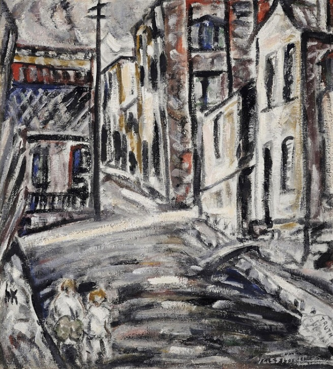 Danila Vassilieff (Russia 1897-Australia 1958, Australia from 1923, Central and South America, Europe, England 1929-34) 'Truth, Woolloomooloo' 1936