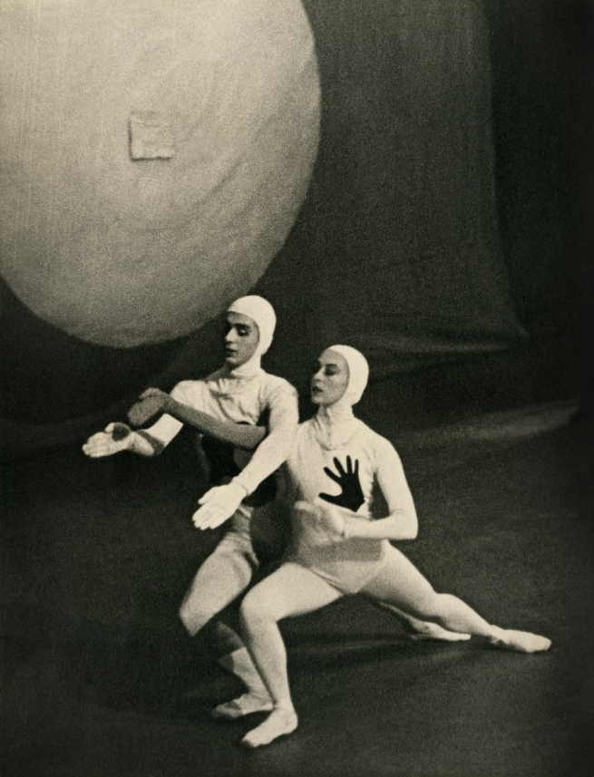 Nanette Kuehn (Germany 1911-Australia 1980, Australia from 1937) 'Borislav Runanine and Tamara Grigorieva in Jeux D'Enfants, original Ballets Russes, Australian tour' 1939-40