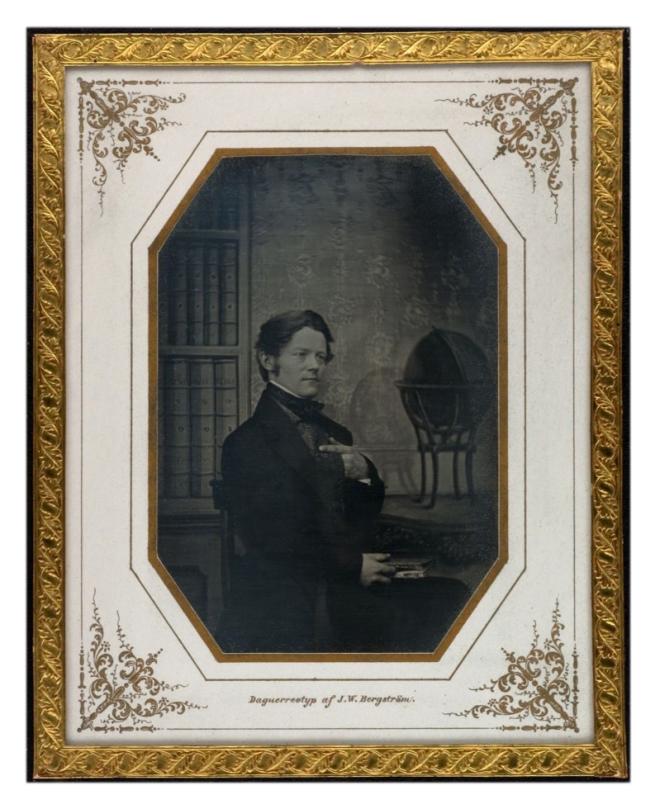 Johan Wilhelm Bergström. 'Self-Portrait' c 1850