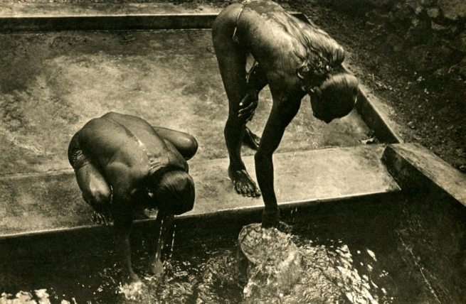 Lionel Wendt. 'Untitled (At the well)' Nd