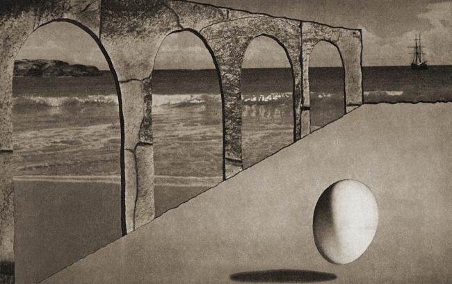 Lionel Wendt. 'Untitled (Sea landscape)' Nd