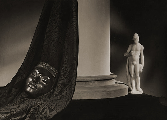 Lionel Wendt. 'Untitled (Still life with mask and statue)' 1942