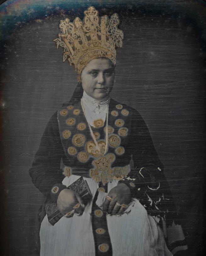 Marcus Selmer. 'Bride from Birkeland' 1855 (detail)