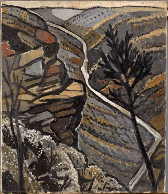 Margaret Preston (Australia 1875-1963, Germany and France 1904-07, France, England and Ireland 1912-19) 'Shoalhaven Gorge, New South Wales' 1940-1941