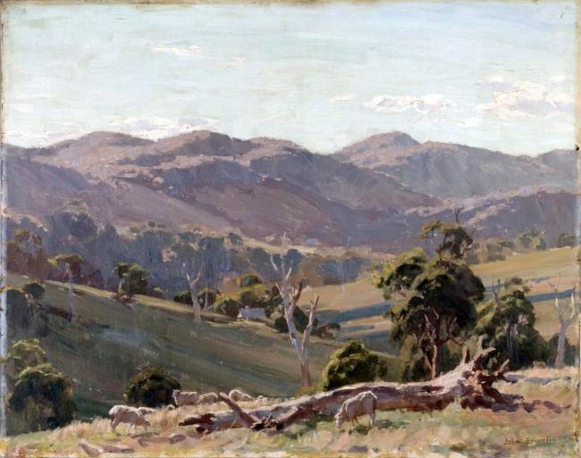 John Rowell (Australia 1894-1973) 'Blue hills' c. 1936