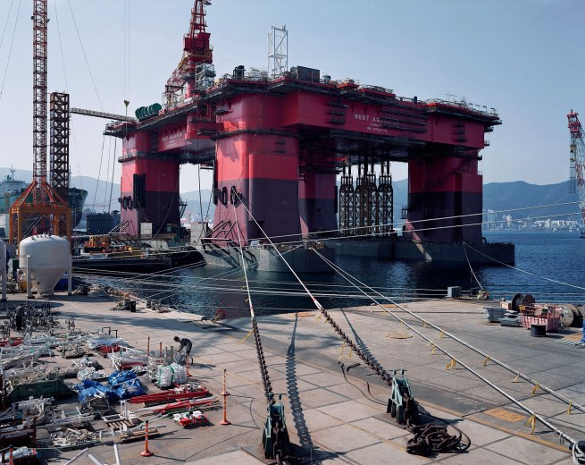 Thomas Struth (born 1954) 'Semi Submersible Rig, DSME Shipyard, Geoje Island' 2007