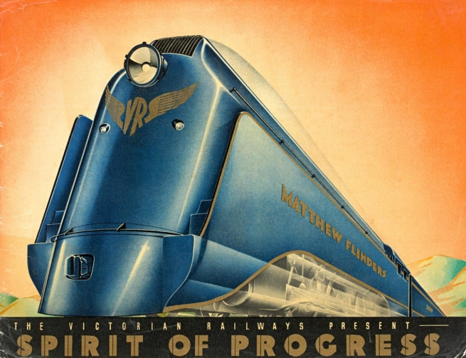 Victorian Railways, Melbourne (publisher) Australia 1856-1976 'The Victorian Railways present The Spirit of Progress' 1937