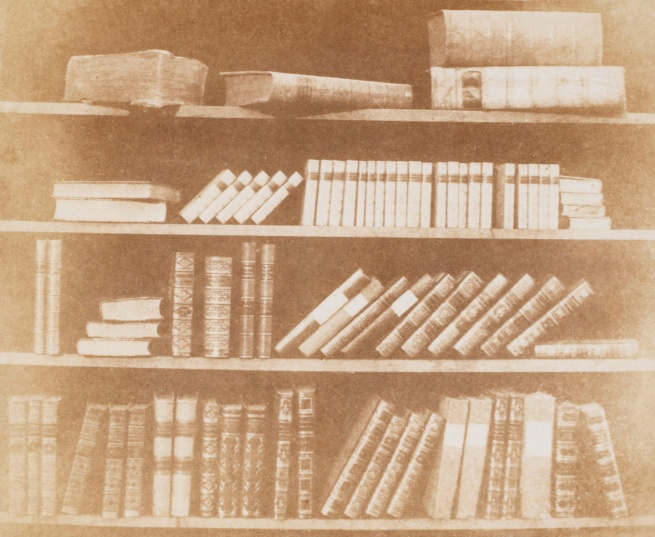 William Henry Fox Talbot. 'Four Shelves of Books' 1844