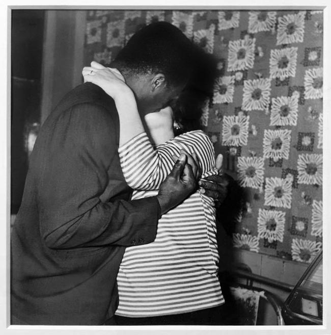 Bandele Ajetunmobi (1921-1994) 'Couple Kissing, Whitechapel, London' 1960s, printed 2012
