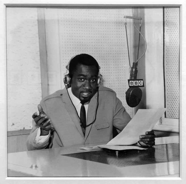James Barnor (born 1929) 'Mike Eghan at the BBC Studios, London' 1967, printed 2010