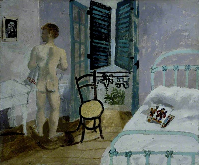 Christopher Wood (1901-1930) 'Nude Boy in a Bedroom' 1930