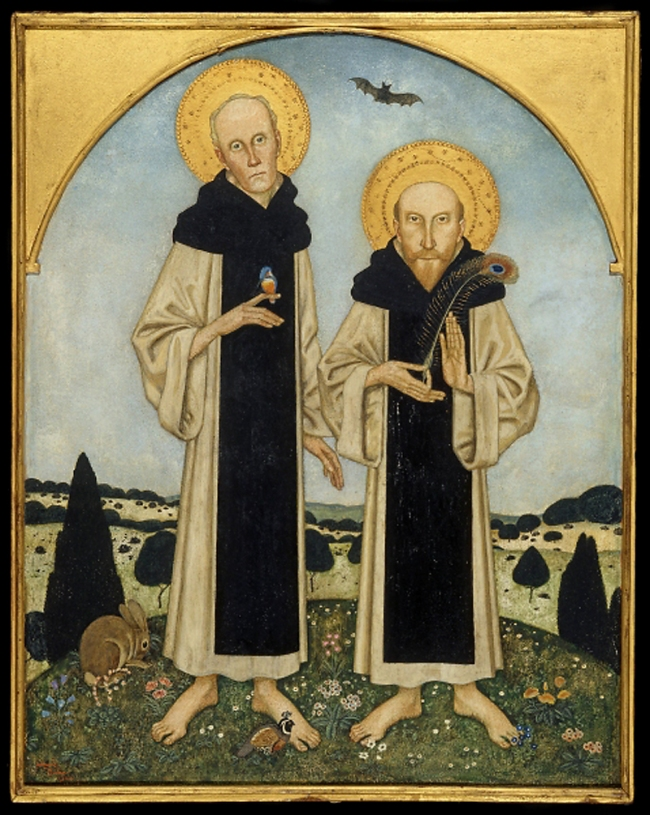 Edmund Dulac (1882-1953) 'Charles Ricketts and Charles Shannon as Medieval Saints' 1920