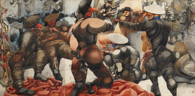 Edward Burra. 'Soldiers at Rye' 1941