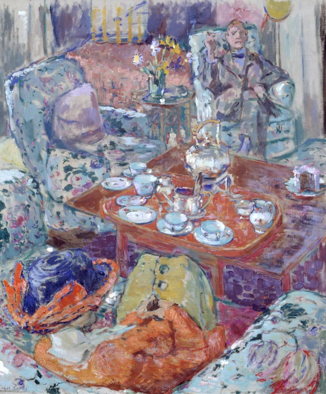 Ethel Sands (1873-1962) 'Tea with Sickert' c. 1911-12