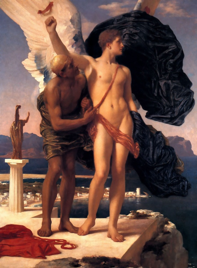 Frederic Leighton (1830-1896) 'Daedalus and Icarus' Exhibited 1869
