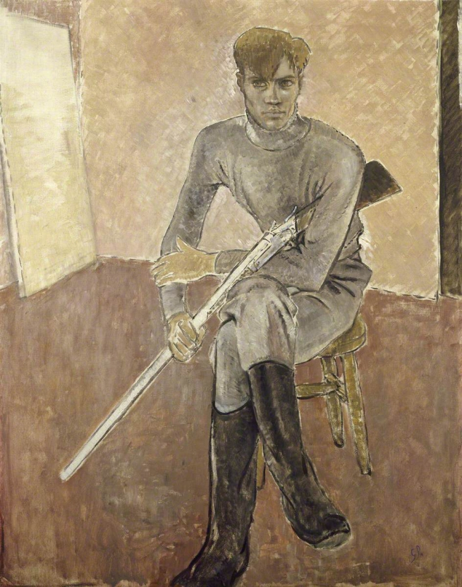 Glyn Warren Philpot (1884-1937) 'Man with a Gun' 1933