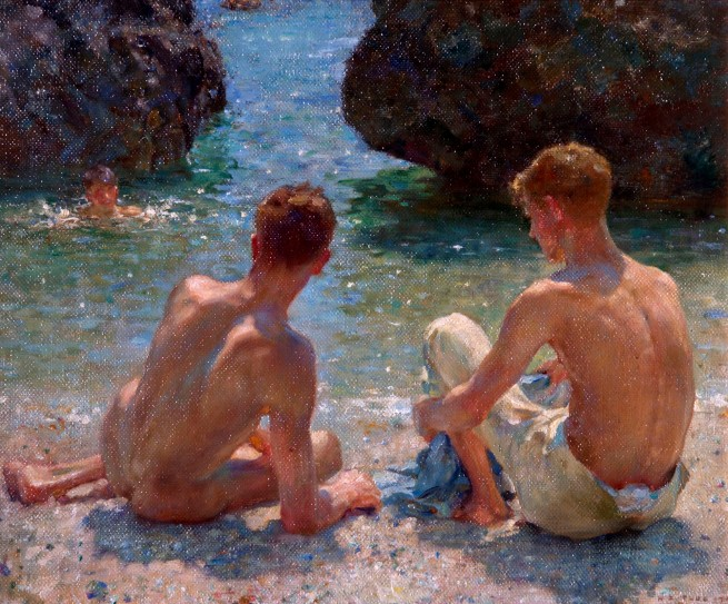 Henry Scott Tuke (1858-1929) 'The Critics' 1927