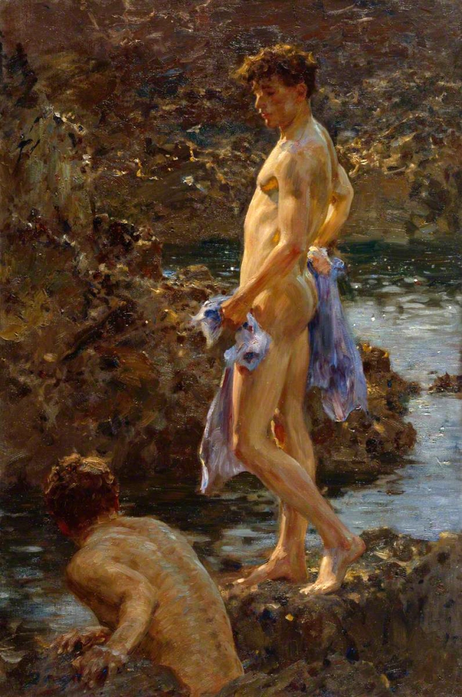 Henry Scott Tuke (1858-1929) 'A Bathing Group' 1914
