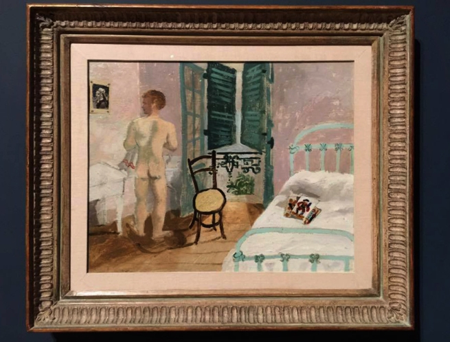 Installation view of Christopher Wood's 'Nude Boy in a Bedroom' 1930