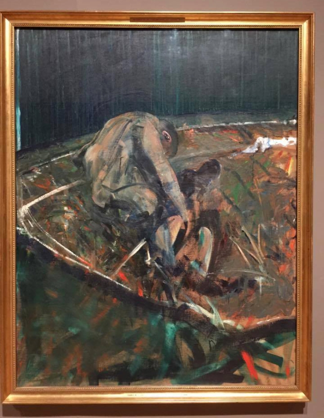 Francis Bacon (1909-1992) 'Two Figures in a Landscape' (installation view) 1956