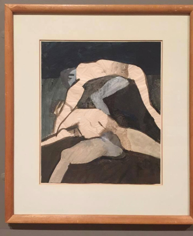 Keith Vaughan (1912-1977) 'Wrestlers' 1965