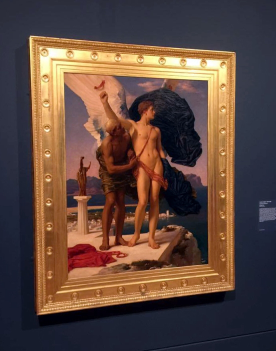Installation view of Frederic Leighton's 'Daedalus and Icarus' 1896